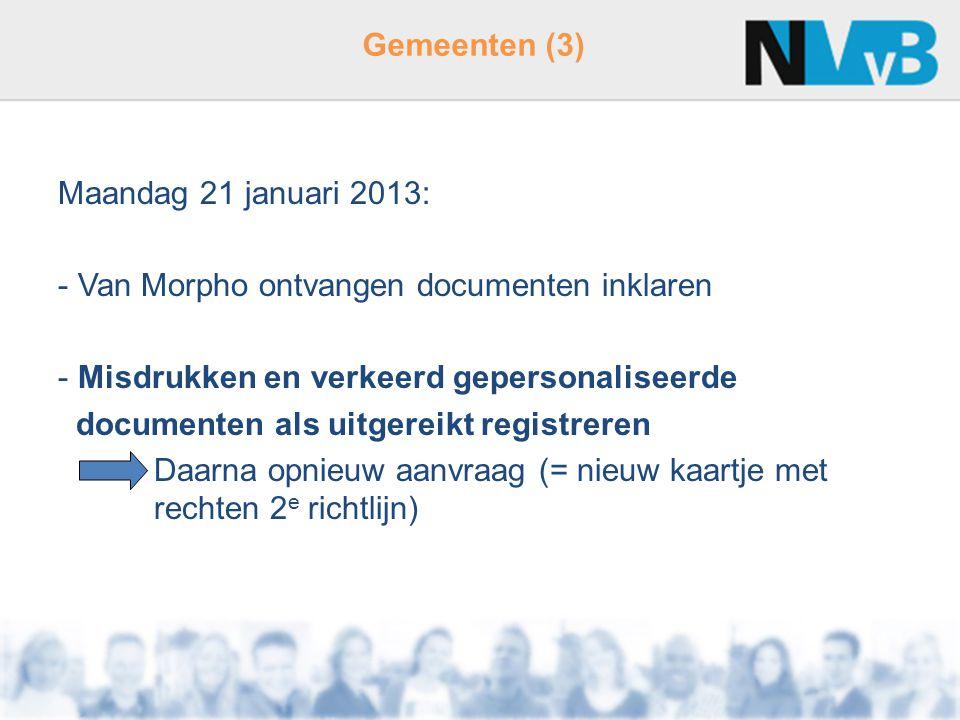 Van Morpho ontvangen documenten inklaren