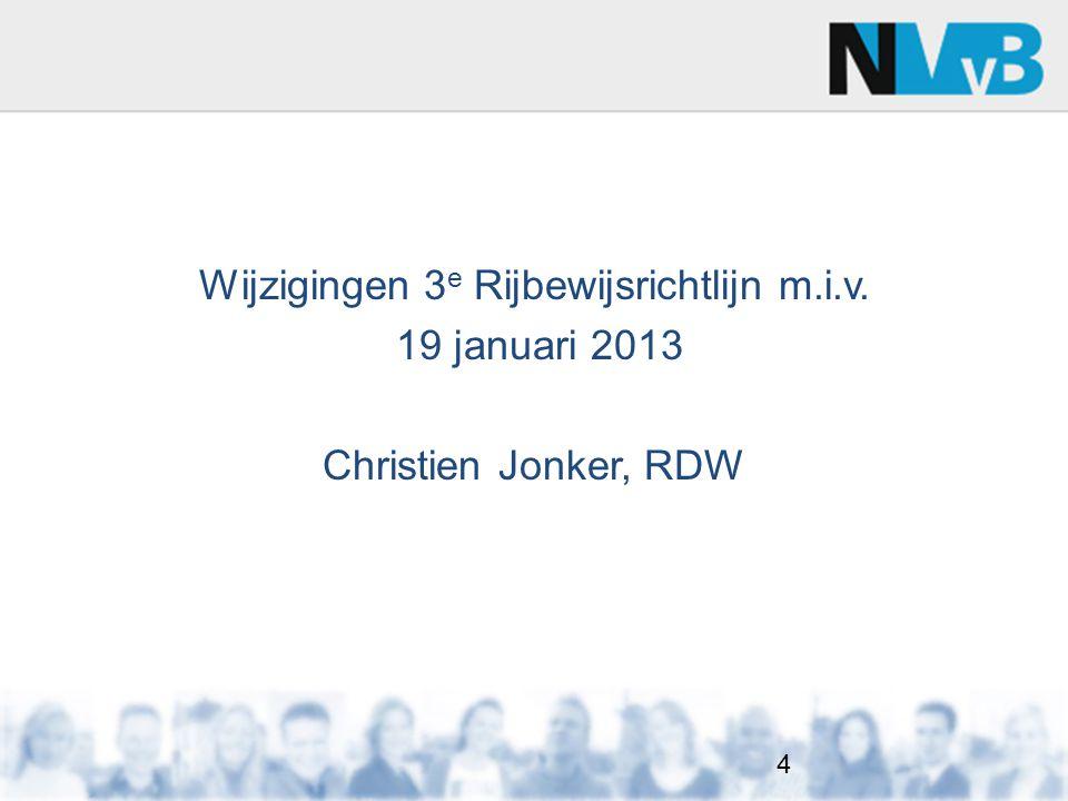 Wijzigingen 3e Rijbewijsrichtlijn m.i.v.