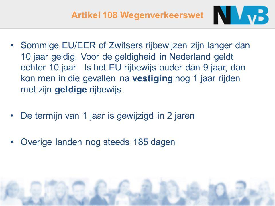 Artikel 108 Wegenverkeerswet