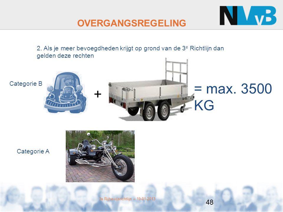 = max. 3500 KG + OVERGANGSREGELING