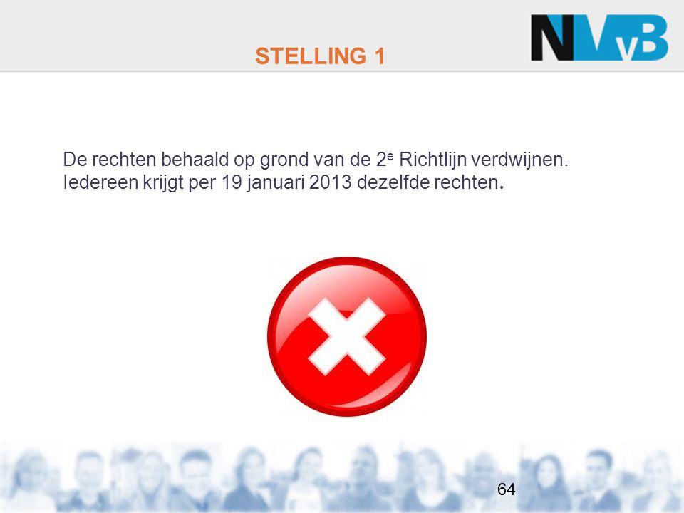 STELLING 1 De rechten behaald op grond van de 2e Richtlijn verdwijnen.