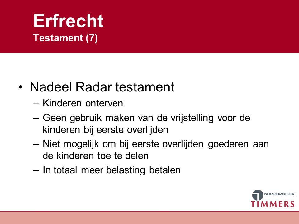 Erfrecht Testament (7) Nadeel Radar testament Kinderen onterven