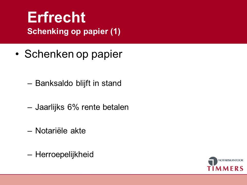 Erfrecht Schenking op papier (1)