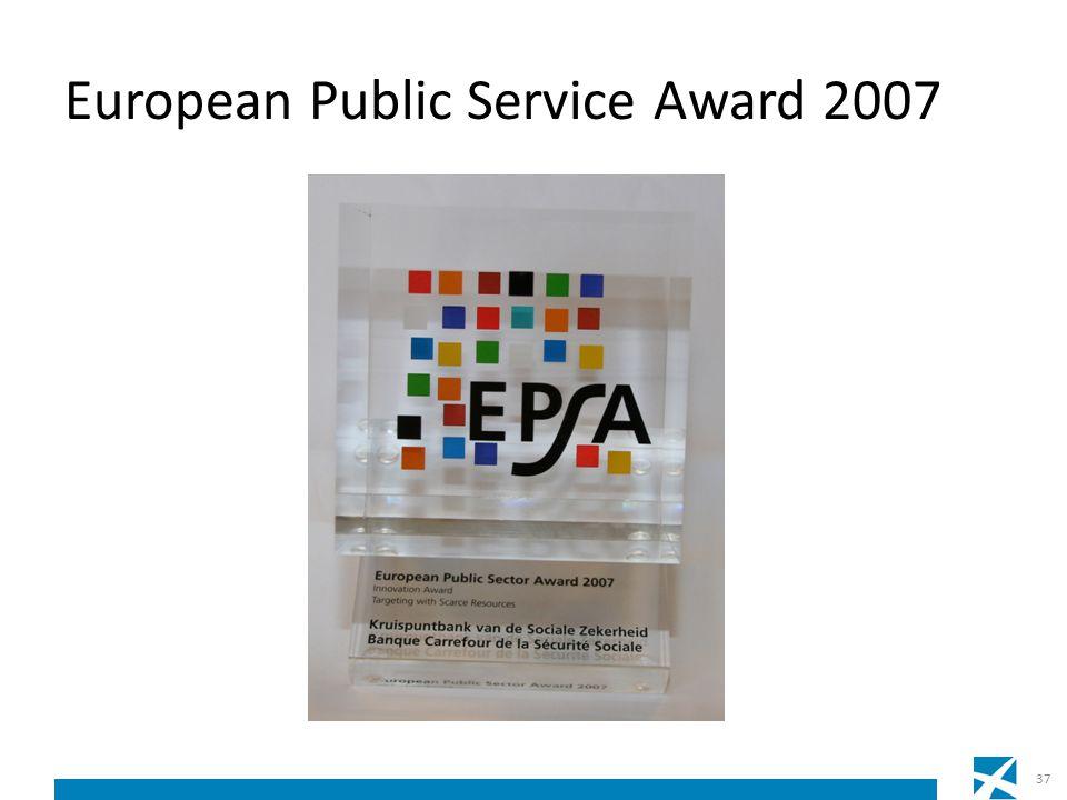 European Public Service Award 2007