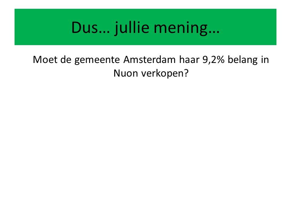 Moet de gemeente Amsterdam haar 9,2% belang in Nuon verkopen