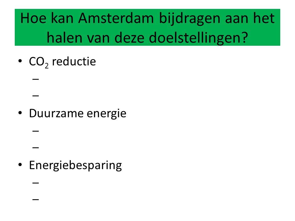 Hoe kan Amsterdam bijdragen aan het halen van deze doelstellingen
