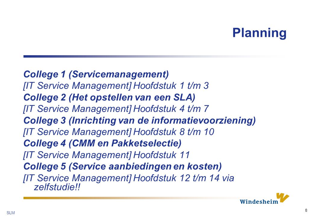 Planning College 1 (Servicemanagement)