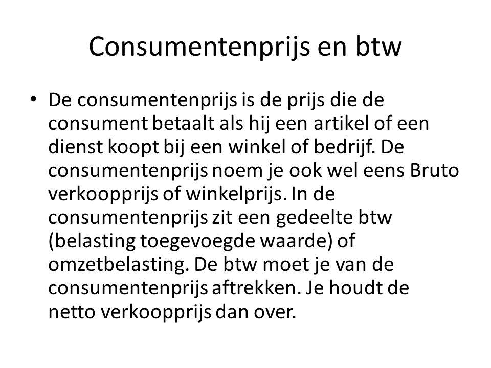Consumentenprijs en btw