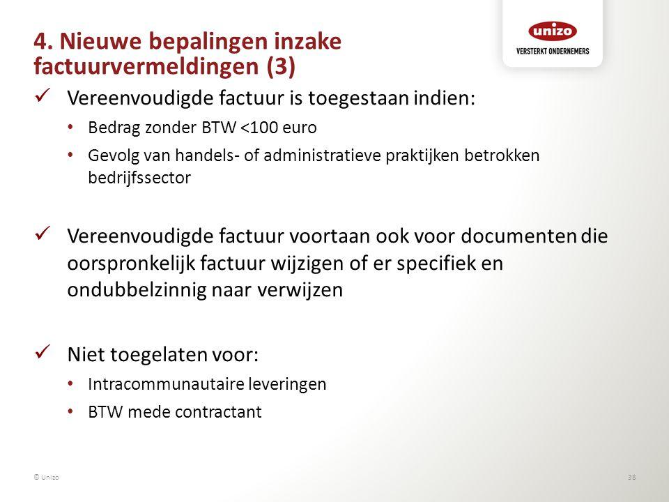 4. Nieuwe bepalingen inzake factuurvermeldingen (3)