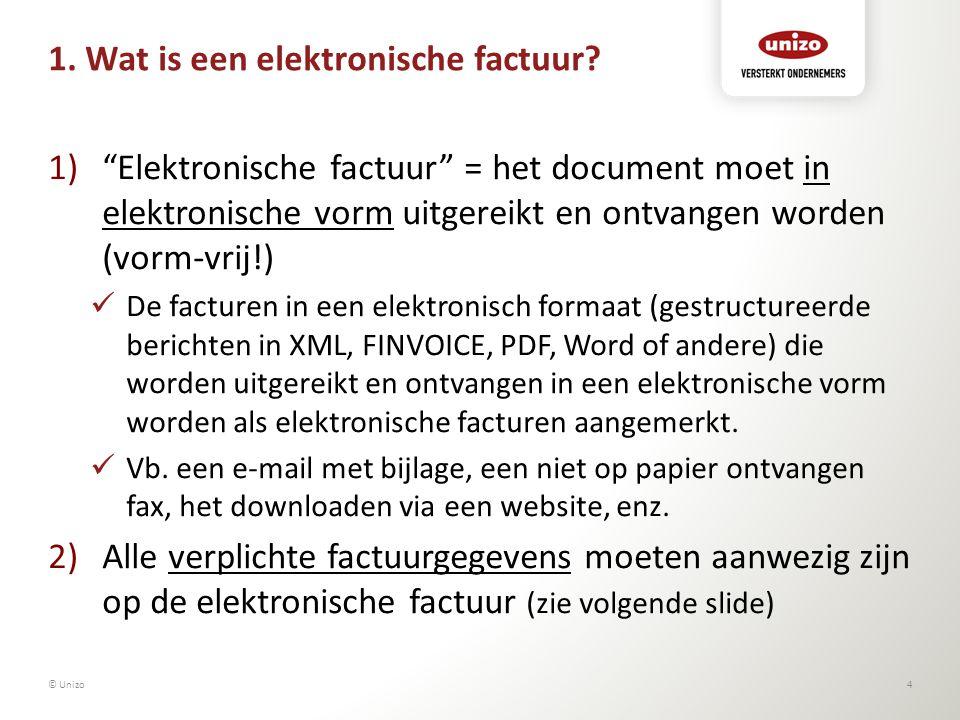 1. Wat is een elektronische factuur