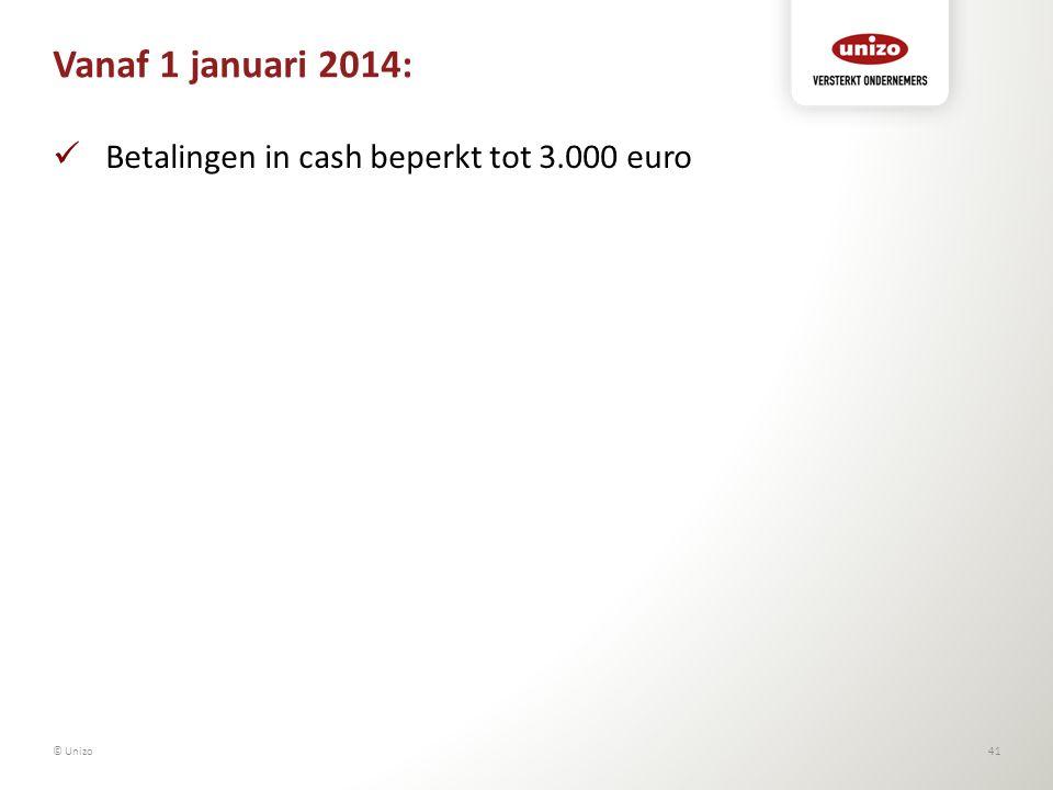 Vanaf 1 januari 2014: Betalingen in cash beperkt tot 3.000 euro