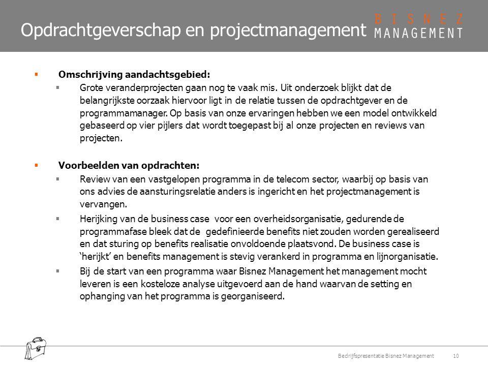 Opdrachtgeverschap en projectmanagement