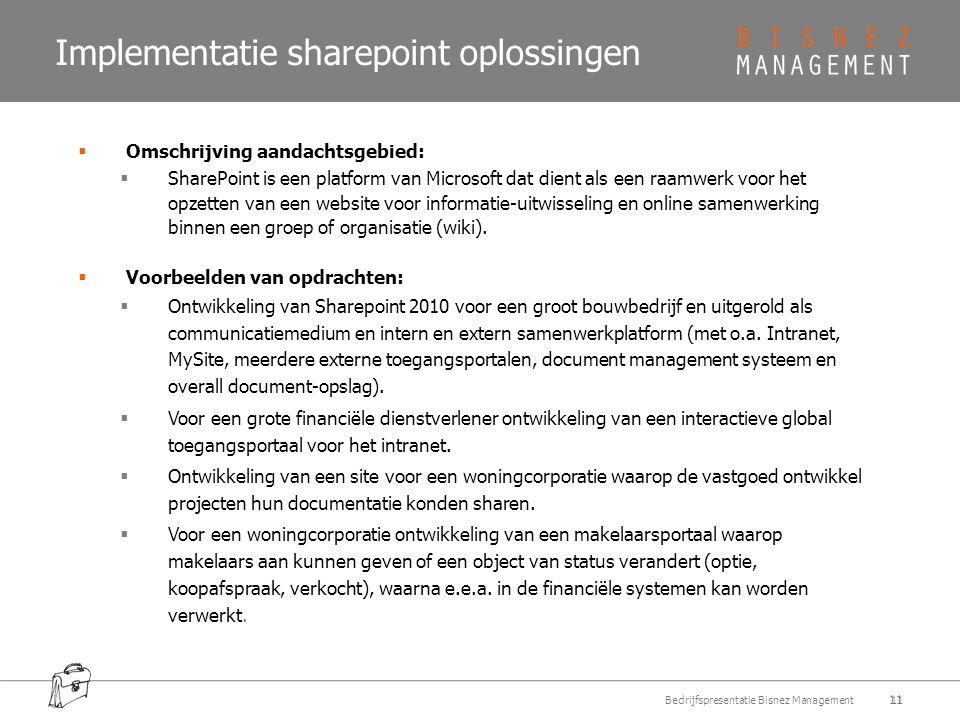 Implementatie sharepoint oplossingen