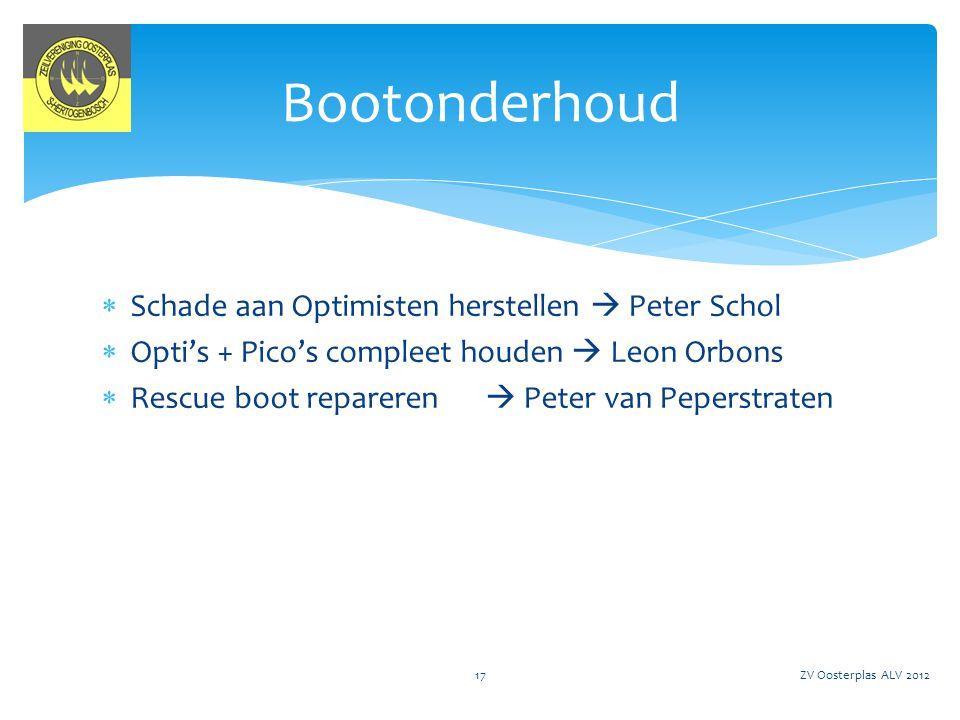 Bootonderhoud Schade aan Optimisten herstellen  Peter Schol