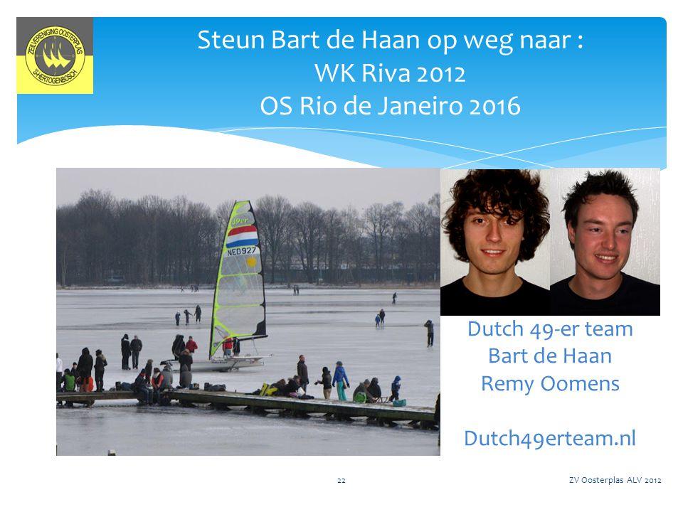 Steun Bart de Haan op weg naar : WK Riva 2012 OS Rio de Janeiro 2016