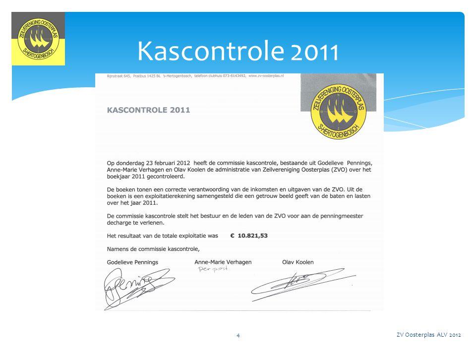 Kascontrole 2011 ZV Oosterplas ALV 2012