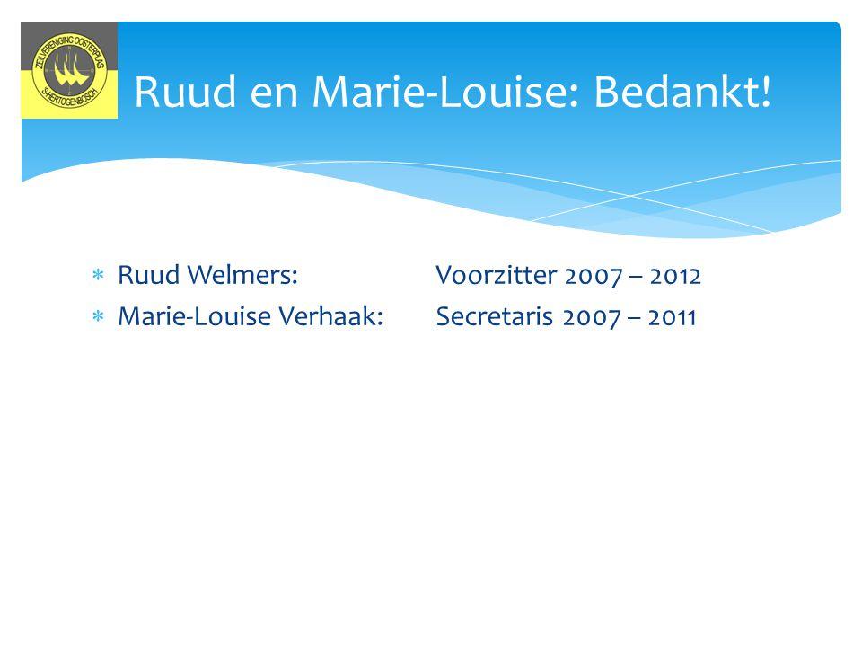 Ruud en Marie-Louise: Bedankt!
