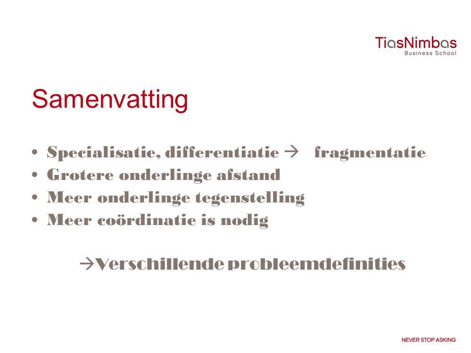 Samenvatting Specialisatie, differentiatie  fragmentatie