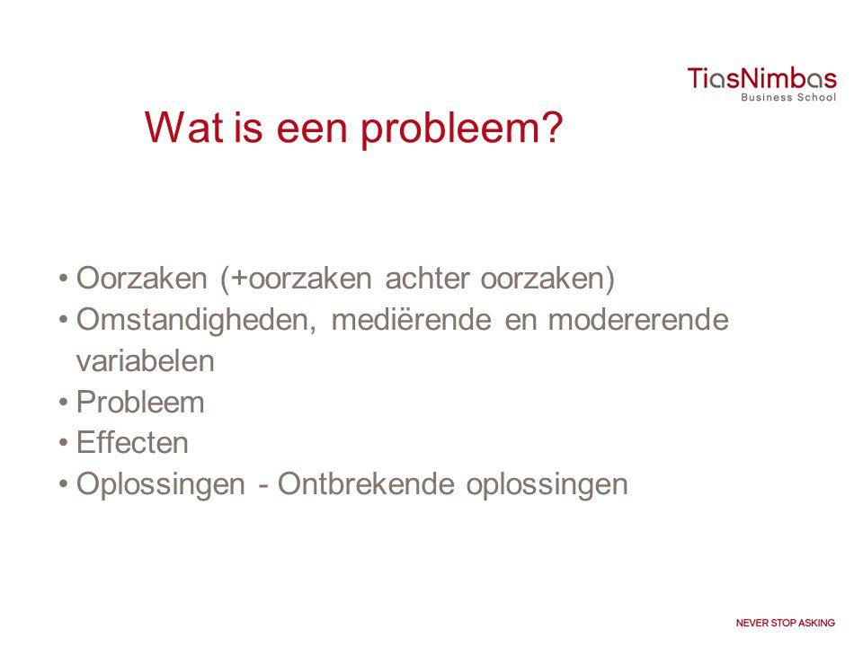 Wat is een probleem Oorzaken (+oorzaken achter oorzaken)