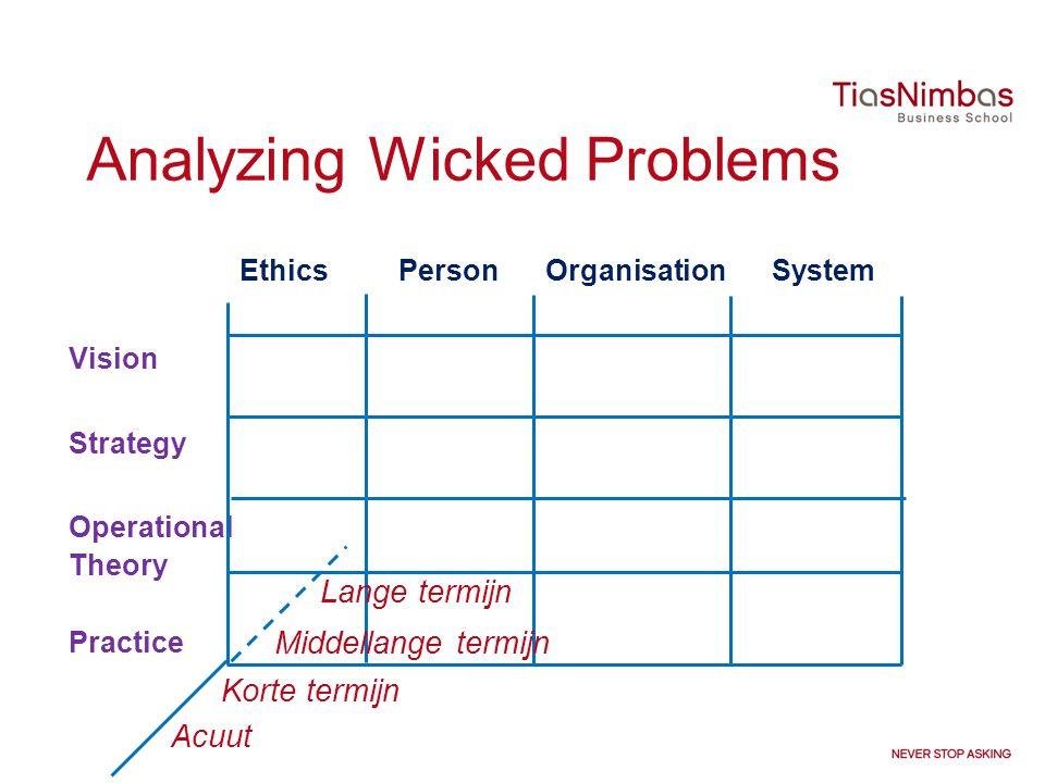 Analyzing Wicked Problems