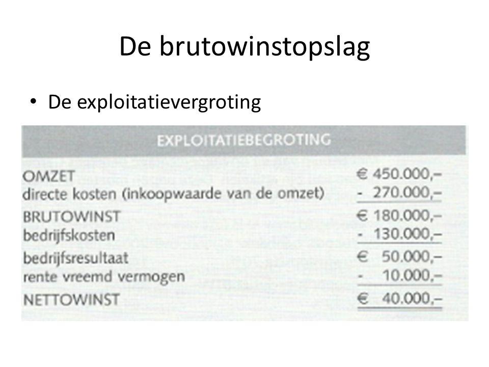 De brutowinstopslag De exploitatievergroting