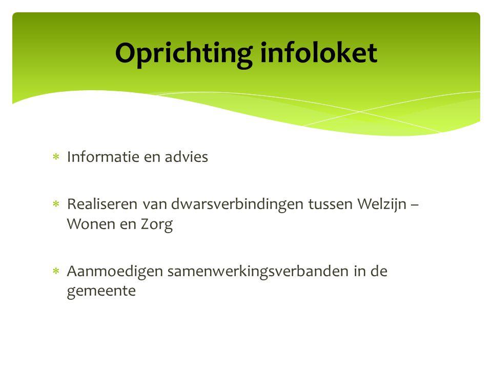 Oprichting infoloket Informatie en advies