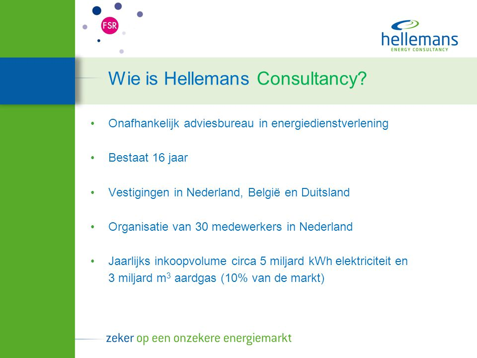 Wie is Hellemans Consultancy