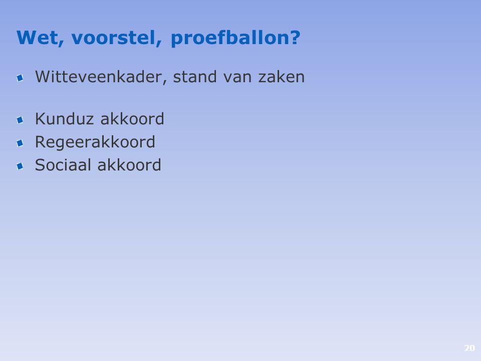 Wet, voorstel, proefballon