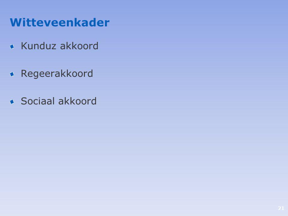 Witteveenkader Kunduz akkoord Regeerakkoord Sociaal akkoord