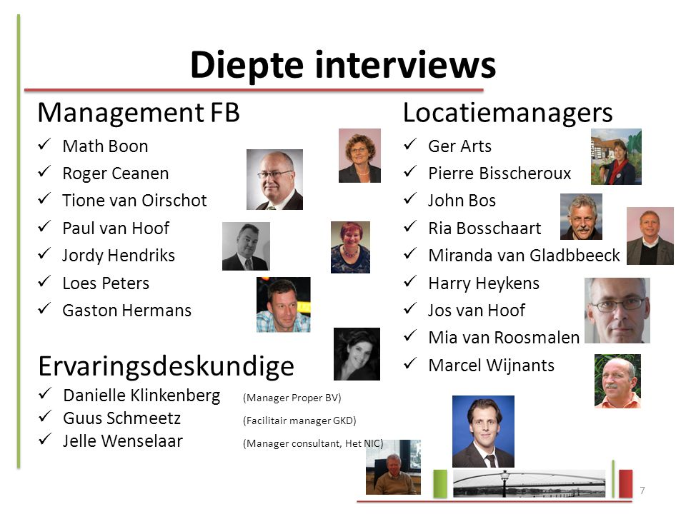 Diepte interviews Management FB Locatiemanagers Ervaringsdeskundige