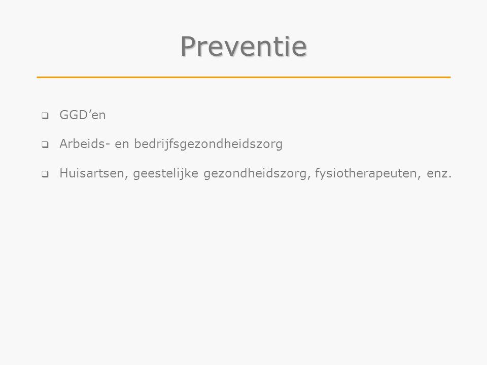 Preventie GGD'en Arbeids- en bedrijfsgezondheidszorg