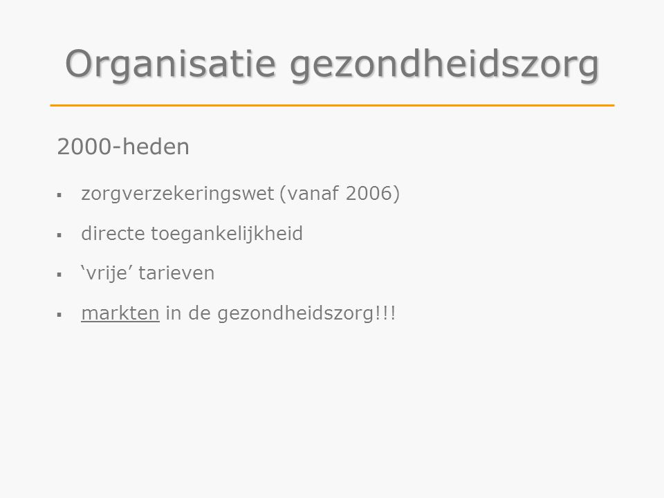 Organisatie gezondheidszorg