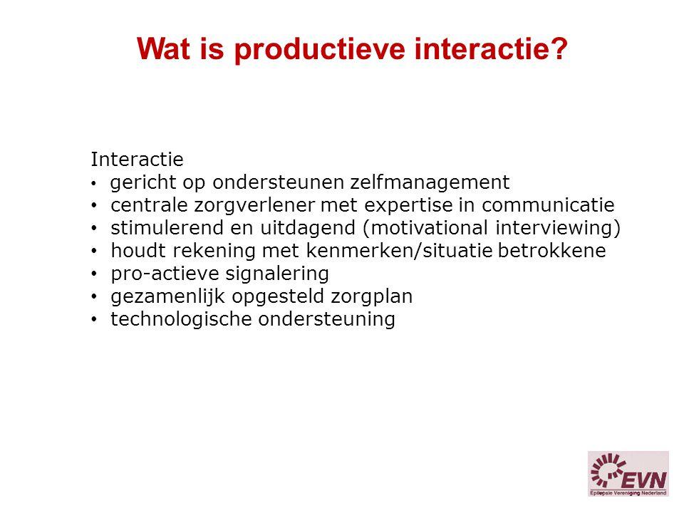 Wat is productieve interactie
