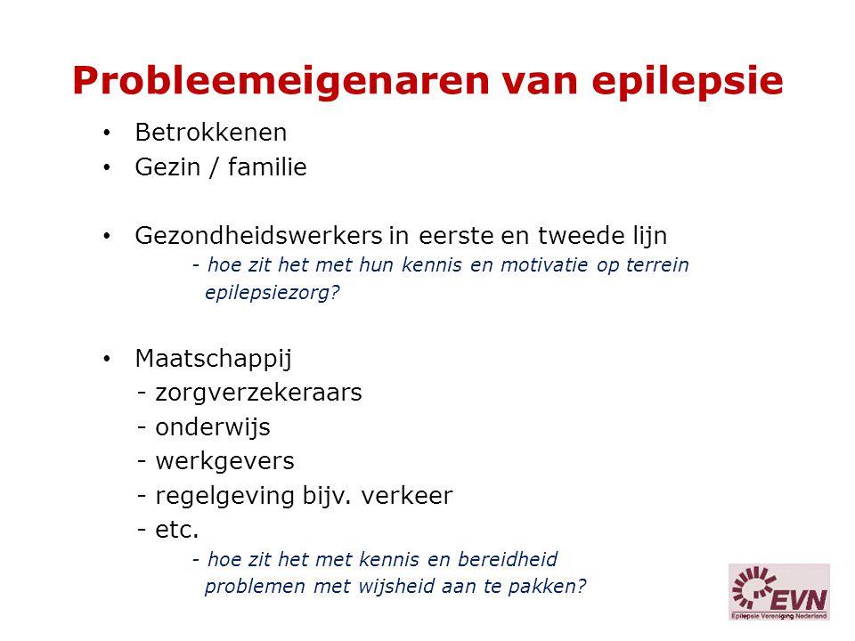 Probleemeigenaren van epilepsie