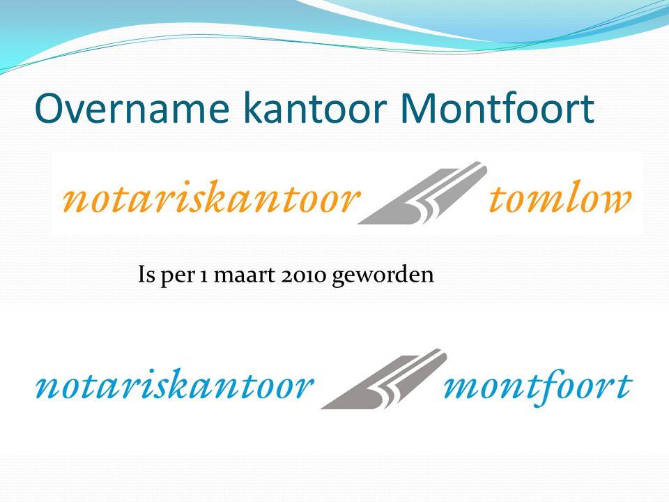 Overname kantoor Montfoort