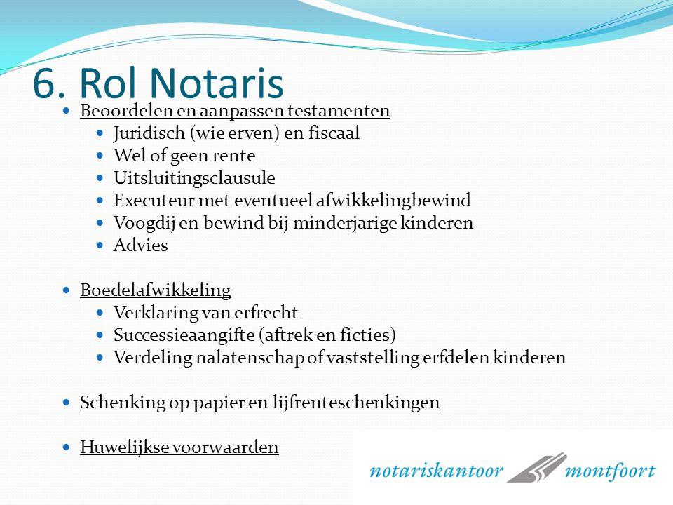 6. Rol Notaris Beoordelen en aanpassen testamenten