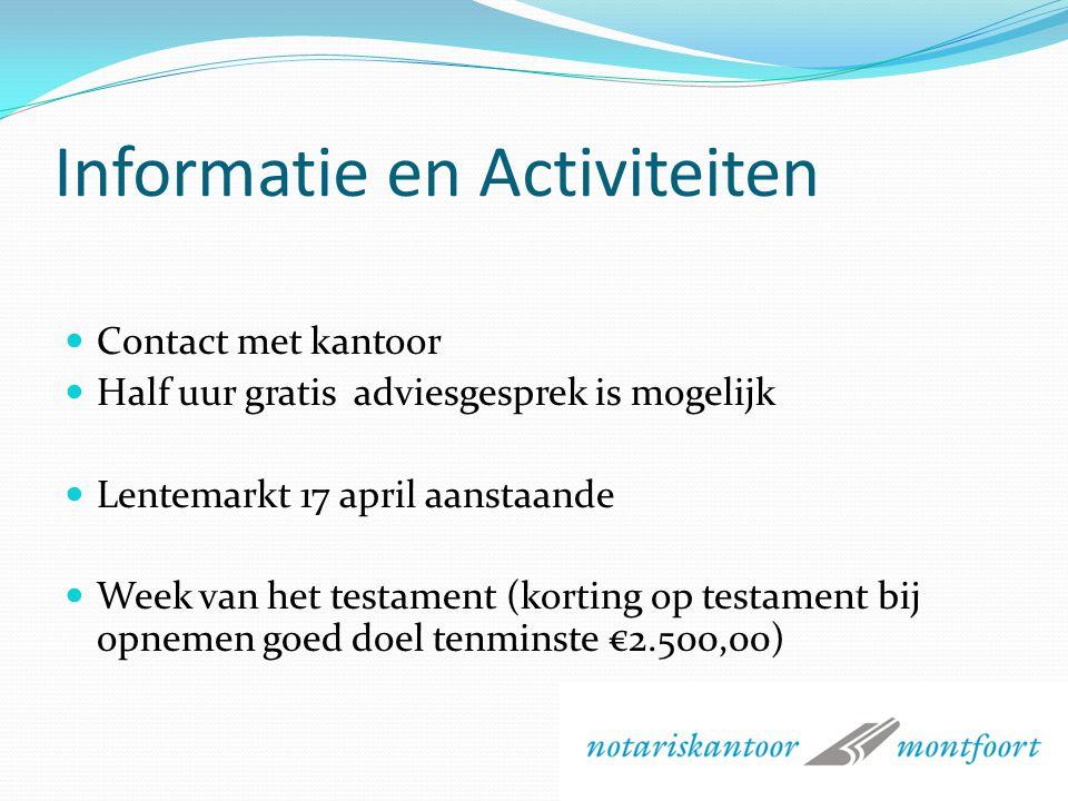 Informatie en Activiteiten