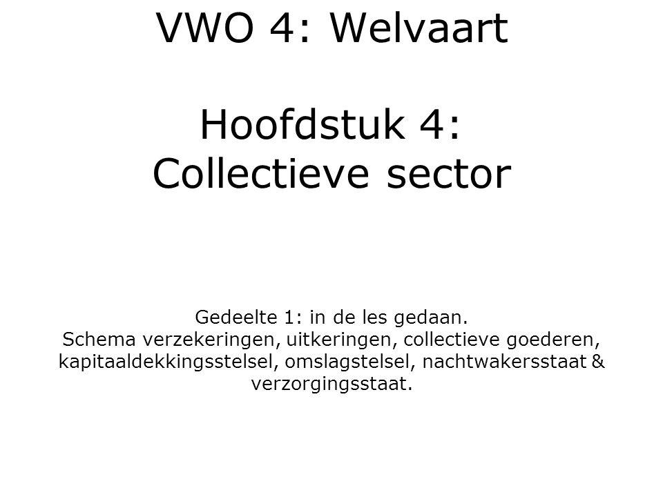 VWO 4: Welvaart Hoofdstuk 4: Collectieve sector