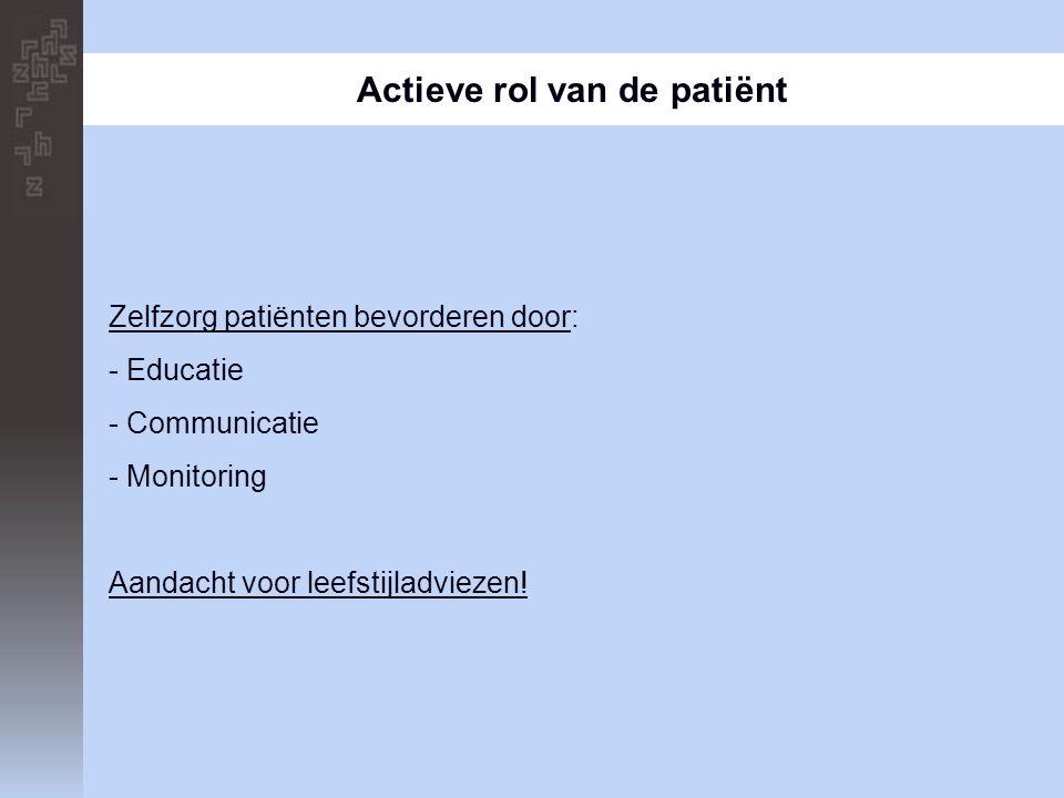 Actieve rol van de patiënt