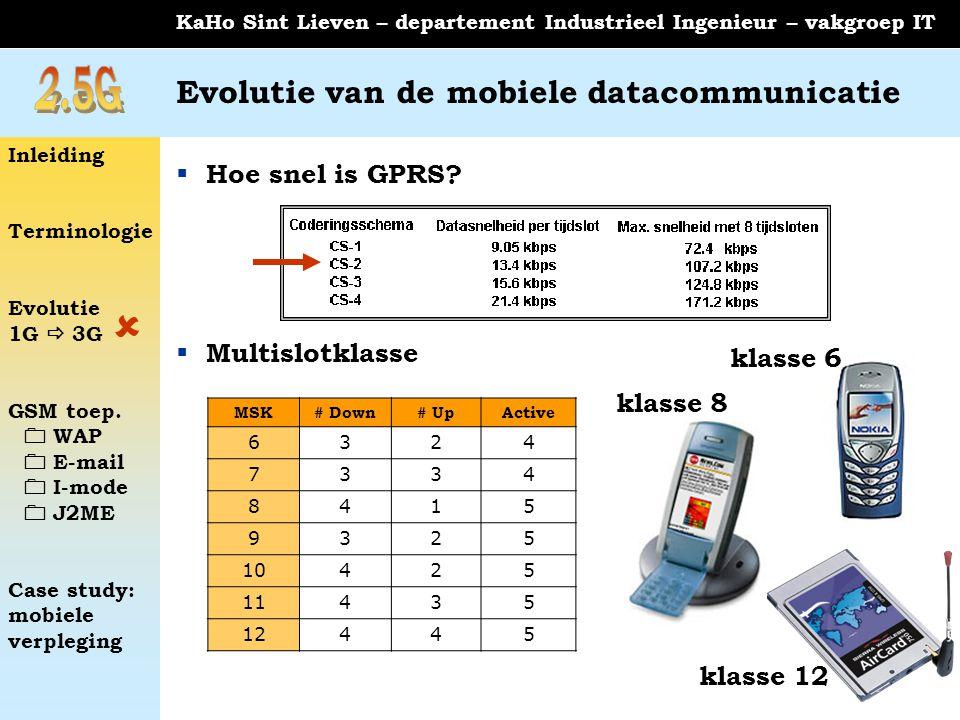 Evolutie van de mobiele datacommunicatie
