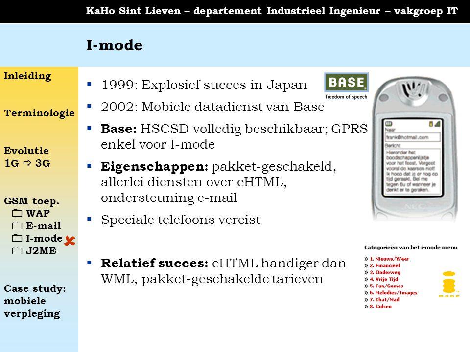  I-mode 1999: Explosief succes in Japan