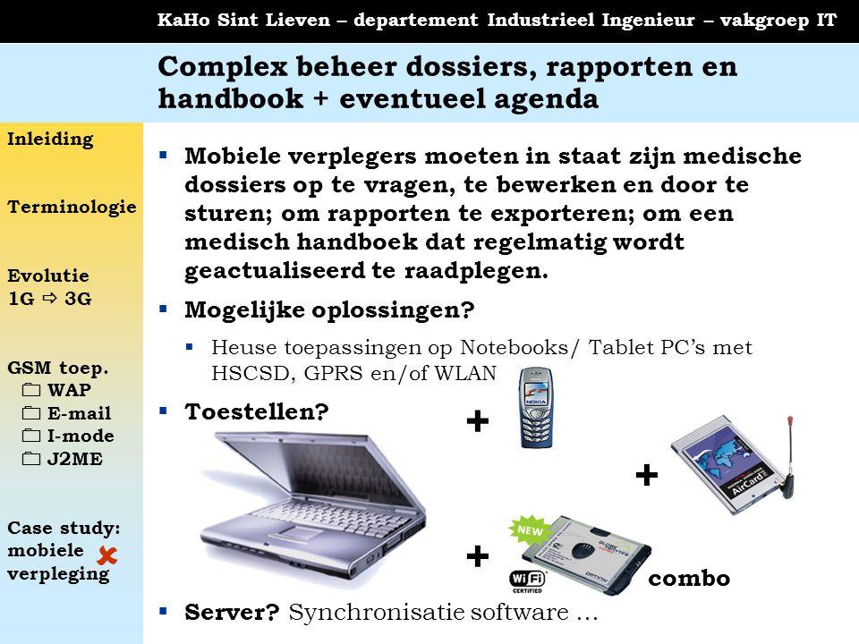Complex beheer dossiers, rapporten en handbook + eventueel agenda