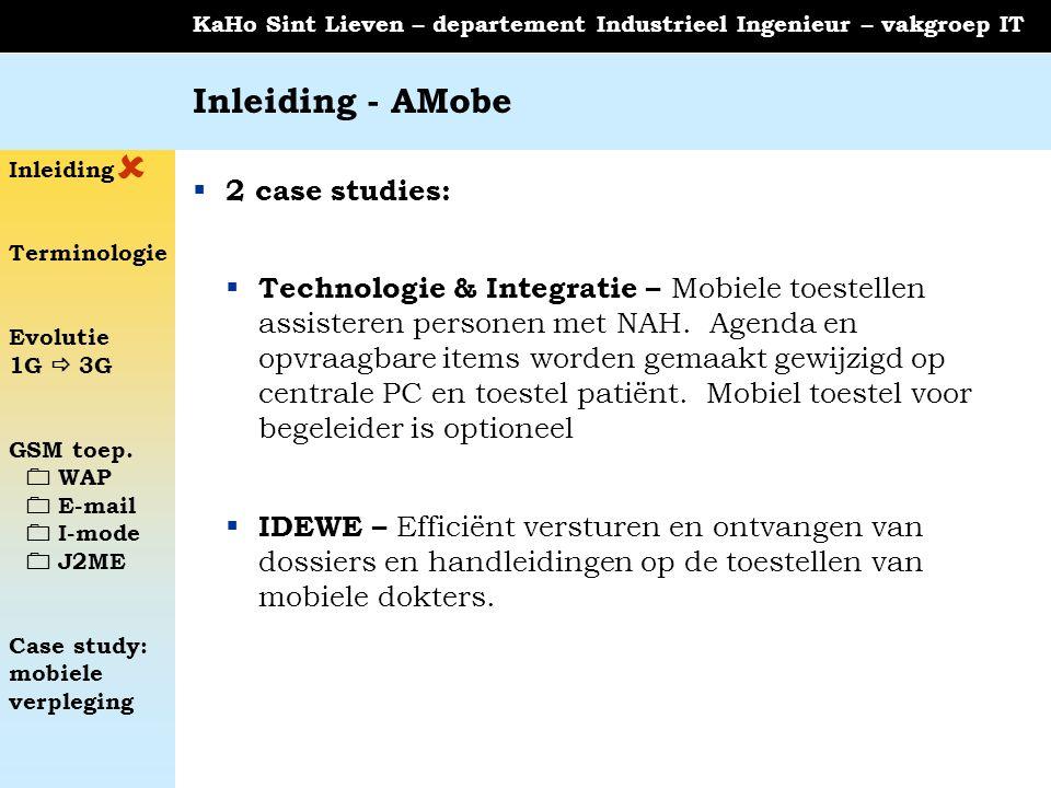  Inleiding - AMobe 2 case studies: