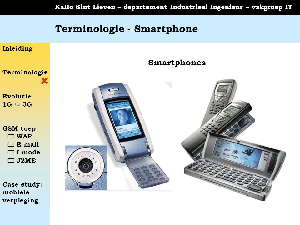 Terminologie - Smartphone