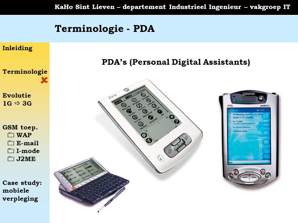 PDA's (Personal Digital Assistants)