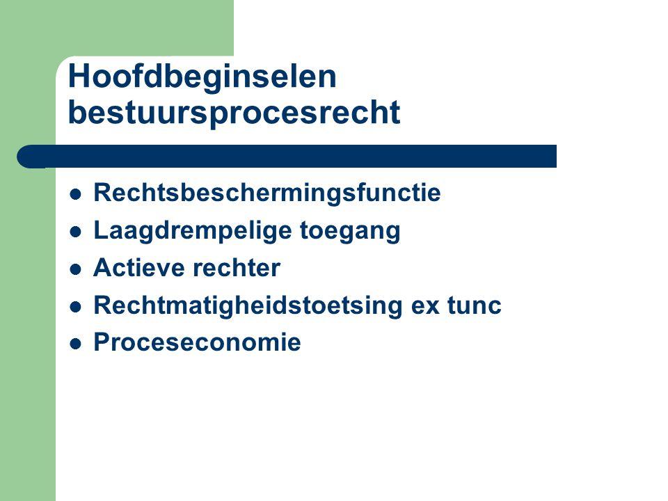 Hoofdbeginselen bestuursprocesrecht