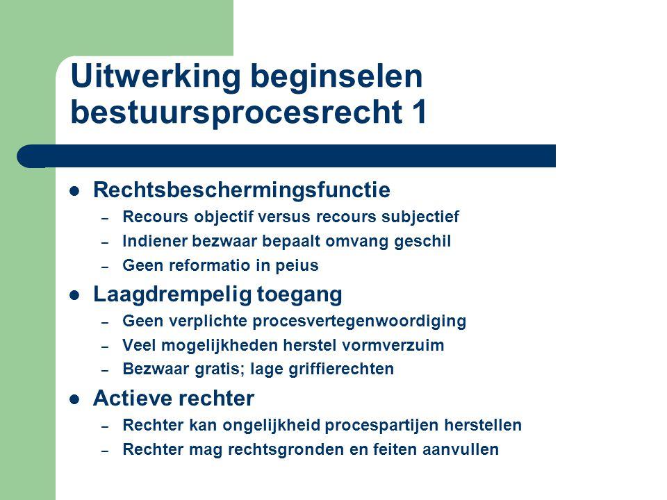 Uitwerking beginselen bestuursprocesrecht 1