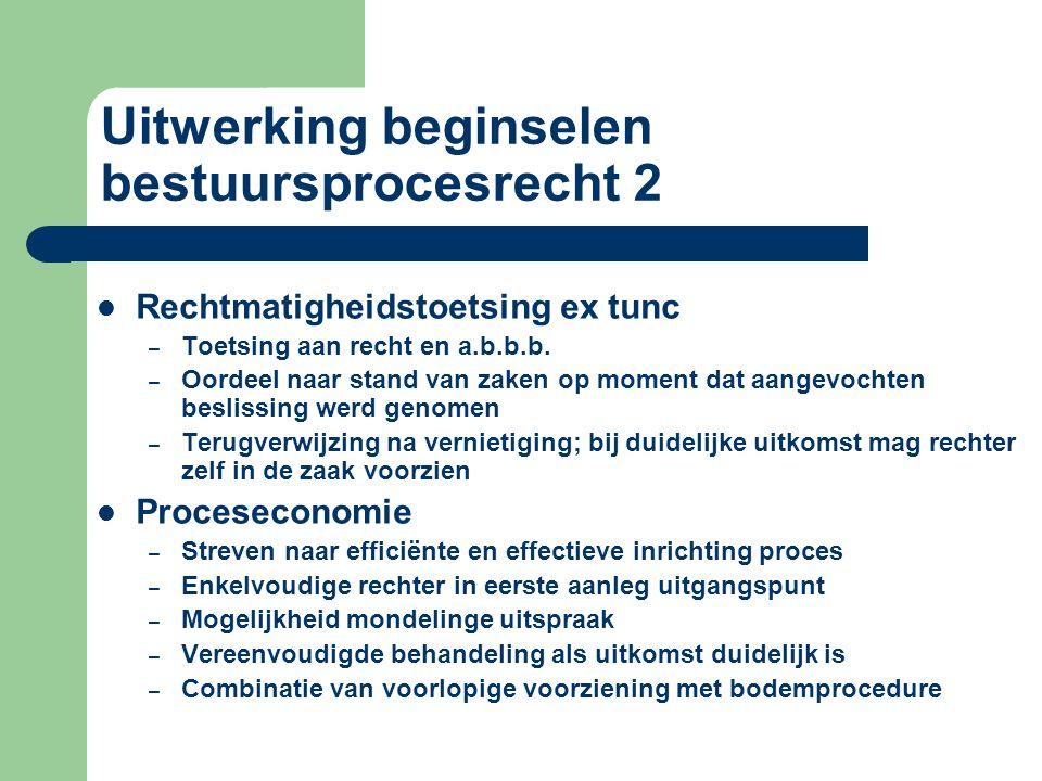 Uitwerking beginselen bestuursprocesrecht 2