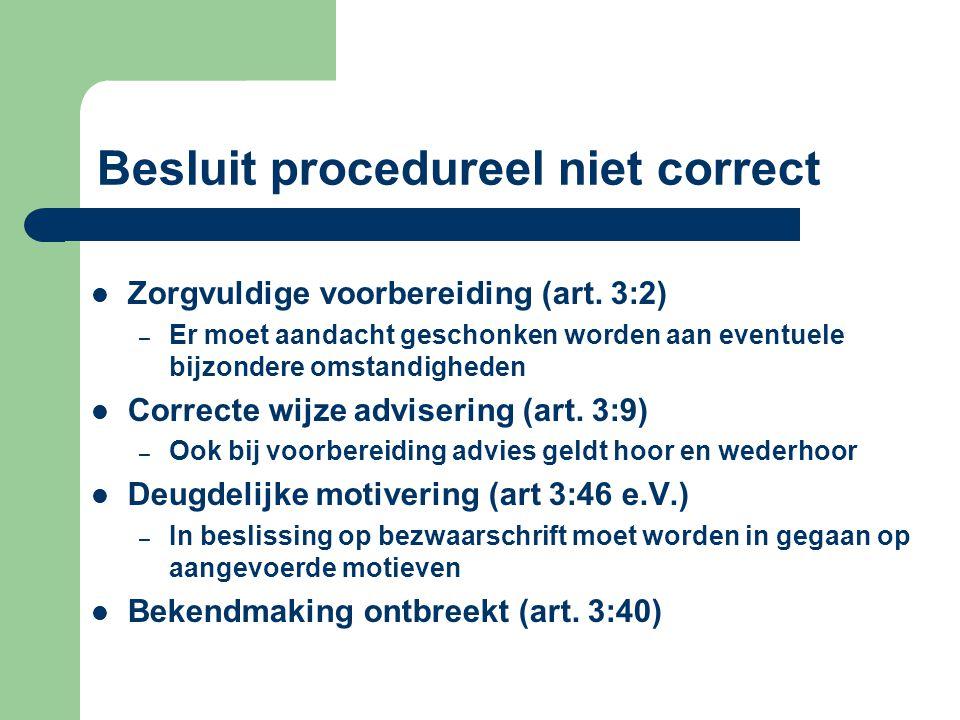 Besluit procedureel niet correct