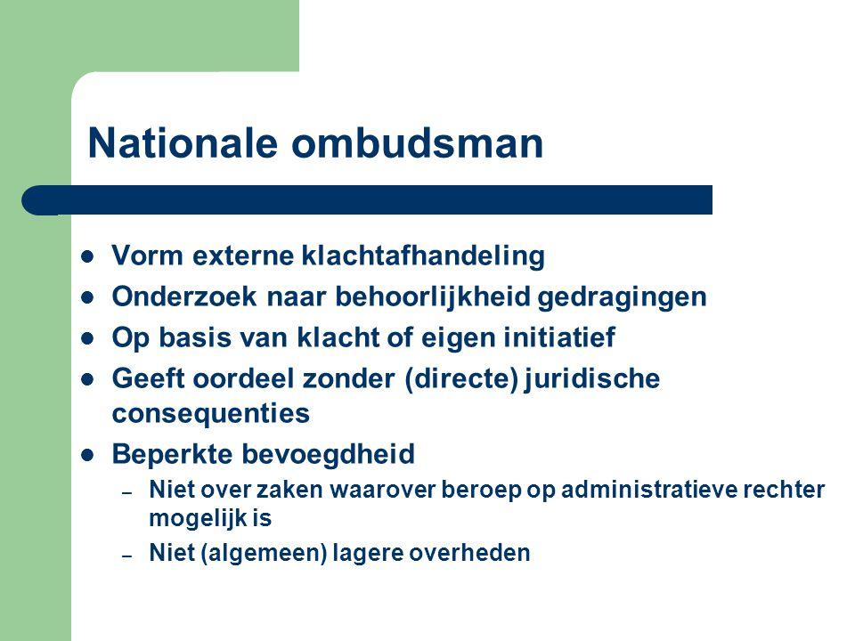 Nationale ombudsman Vorm externe klachtafhandeling